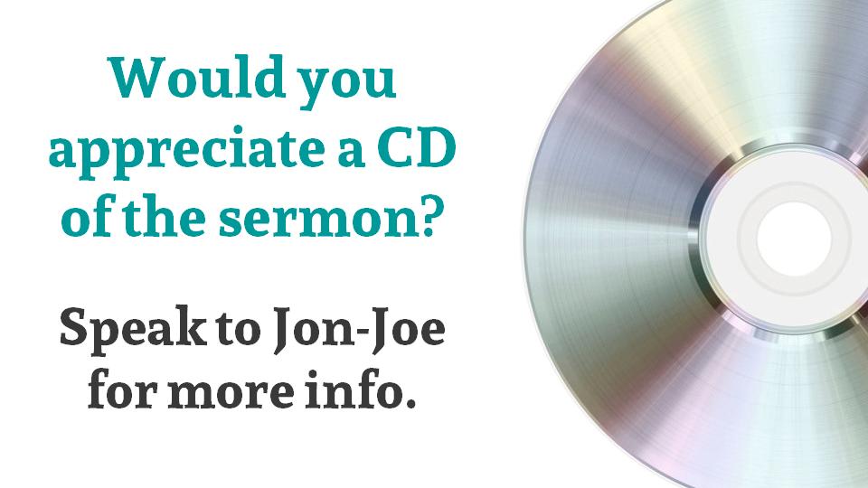 CD of sermon